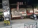 Το Πανό έξω από το Παράρτημα, σύμβολο της Εξέγερσης στην Πάτρα
